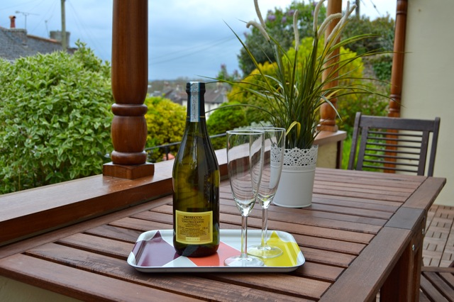 Wine on The Gables veranda