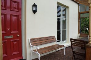 Front door and veranda