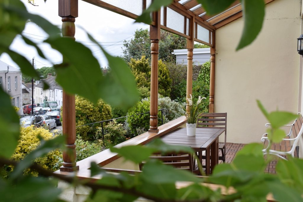 Leafy veranda
