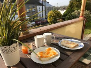 Toast and marmalade on the veranda
