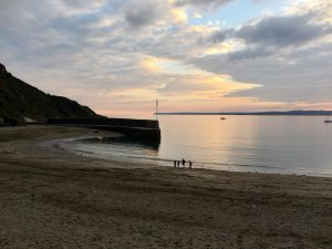 Polkerris at sunset