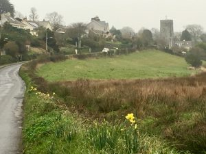 Tywardreath road to church