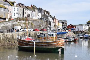 Mevagissey Harbour boats