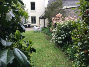 back garden at The gables, tywardeath, near Fowey