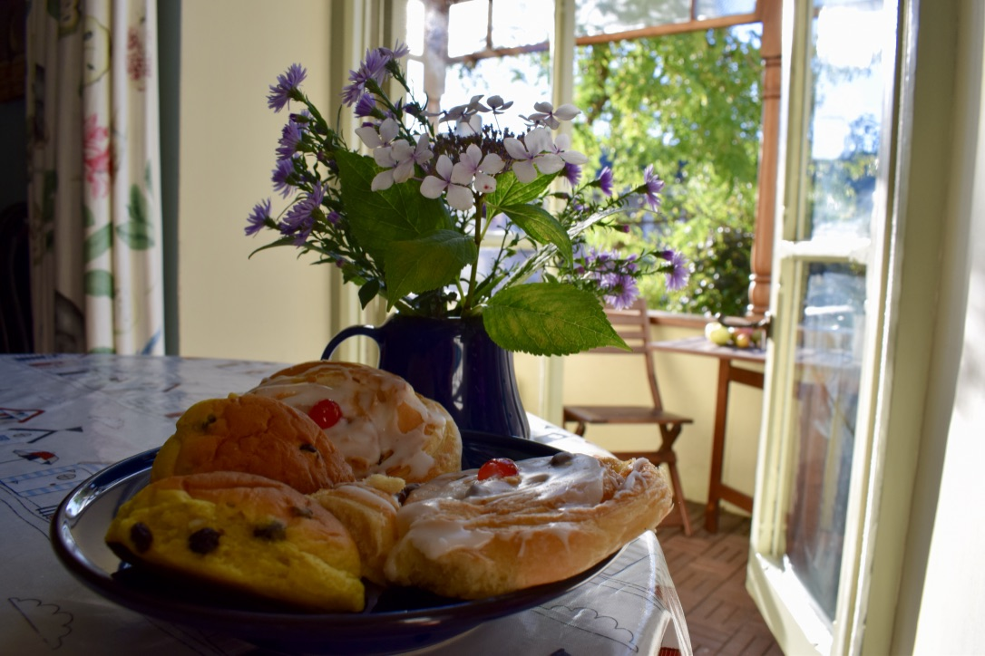 pastries in dining room