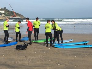 Surfing in February, Newquay